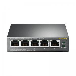 سوئیچ شبکه 5 پورت POE تی پی لینک مدل TP-Link TL-SF1005P